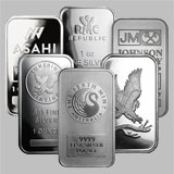 Varied Brands Silver Bullion Bar 1 OZ
